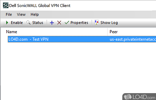 SonicWALL Global VPN Screenshot