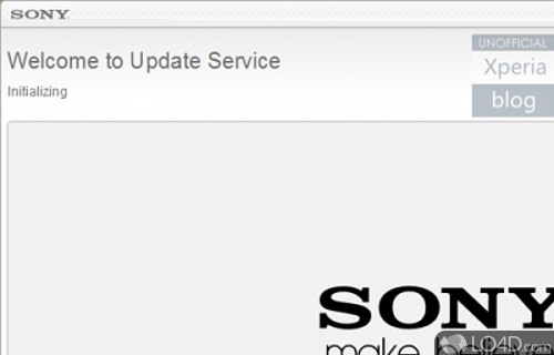 Sony Mobile Update Service Screenshot