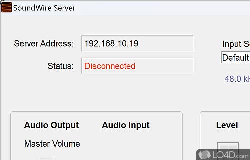 SoundWire Server Screenshot