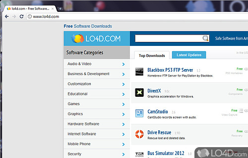 SRWare Iron Portable Screenshot