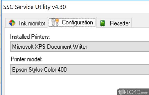 SSC Service Utility Screenshot
