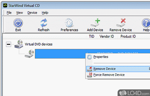 StarWind Virtual CD Screenshot