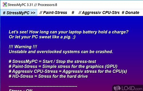 StressMyPC Screenshot