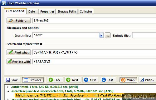 Text Workbench Screenshot