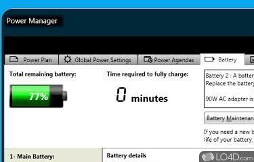 ThinkPad Power Manager Screenshot