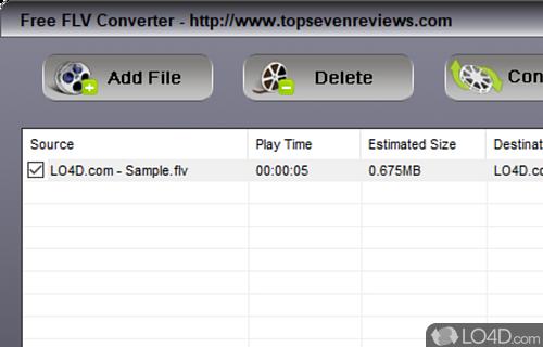 TSR Free FLV Converter Screenshot