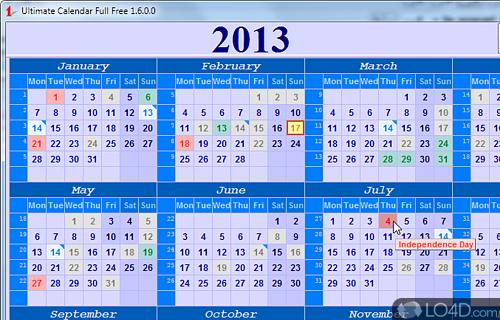 Ultimate Calendar Screenshot