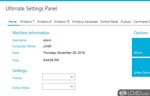 Ultimate Settings Panel Screenshot