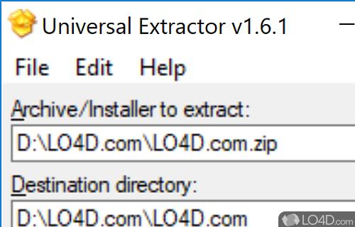 Universal Extractor Portable Screenshot