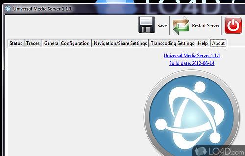 Universal Media Server Screenshot
