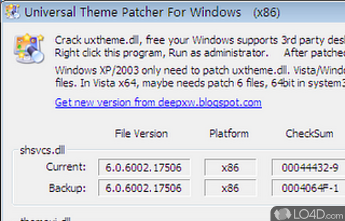 Universal Theme Patcher Screenshot