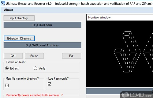 Unrar Extract and Recover Screenshot
