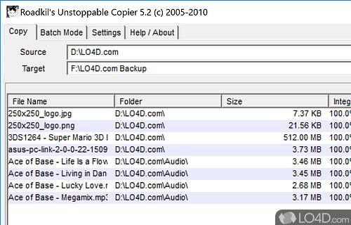 Unstoppable Copier Screenshot