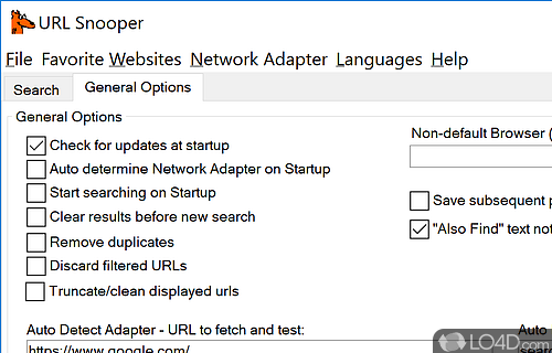 URL Snooper Screenshot