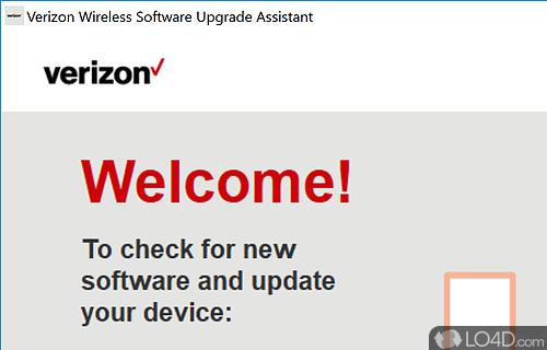 Verizon Wireless Software Upgrade Assistant Screenshot