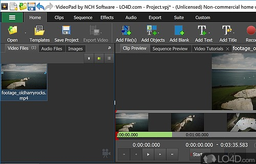 VideoPad Video Editor (Full Version) Screenshot