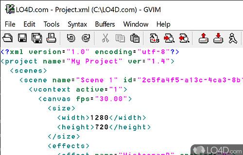 Vim for Windows Screenshot