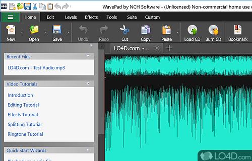 Wavepad Audio Editor Screenshot