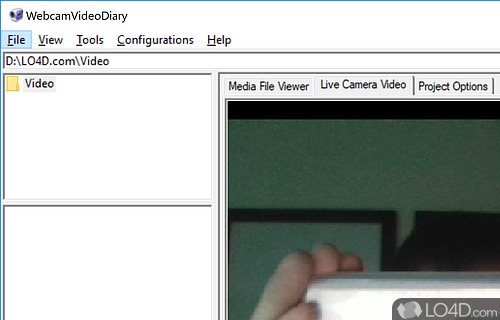 WebcamVideoDiary Screenshot