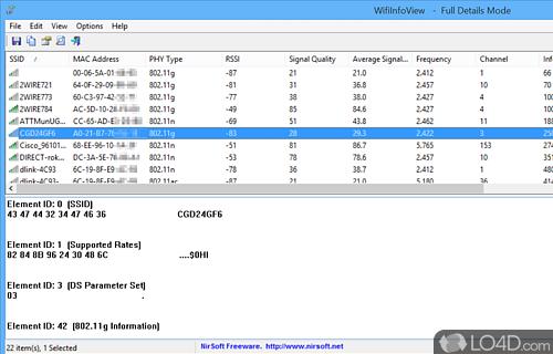 WifiInfoView Screenshot
