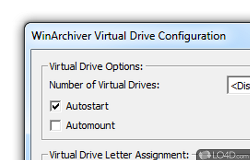 WinArchiver Virtual Drive Screenshot