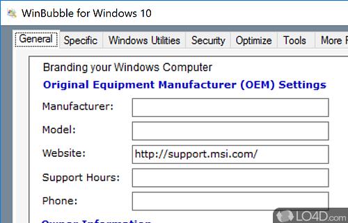 WinBubble for Windows 10 Screenshot