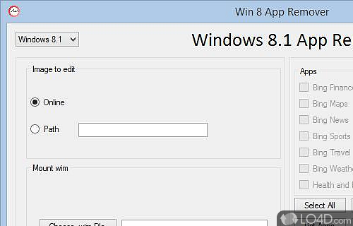 Windows 8 App Remover Screenshot