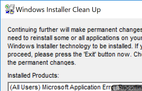 Windows installer cleanup utility (windows) download.
