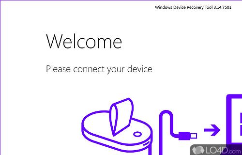 Windows Phone Recovery Tool Screenshot