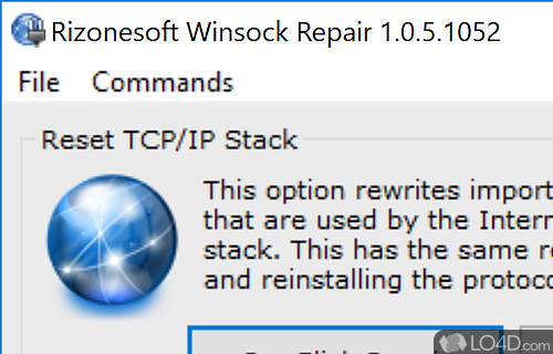 Winsock Repair Screenshot