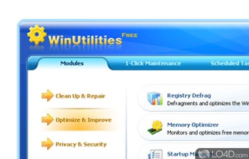 WinUtilities Free Edition Screenshot