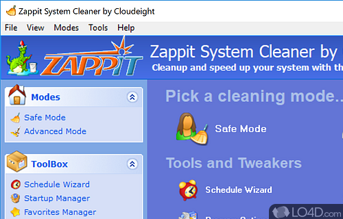 Zappit System Cleaner Screenshot