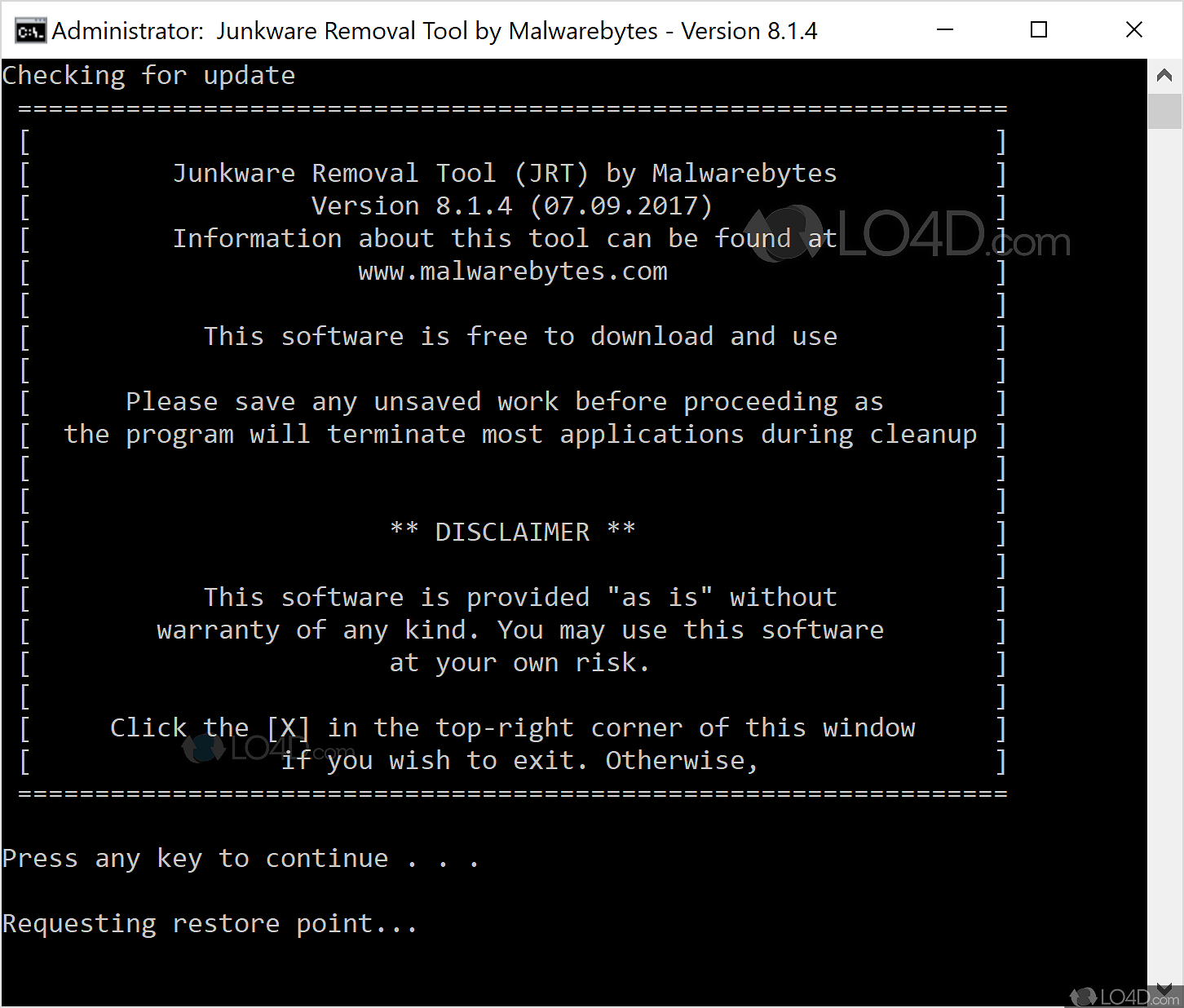 Junkware Removal Tool - Download