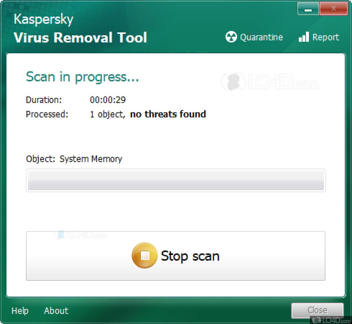 Kaspersky Virus Removal Tool - Screenshots