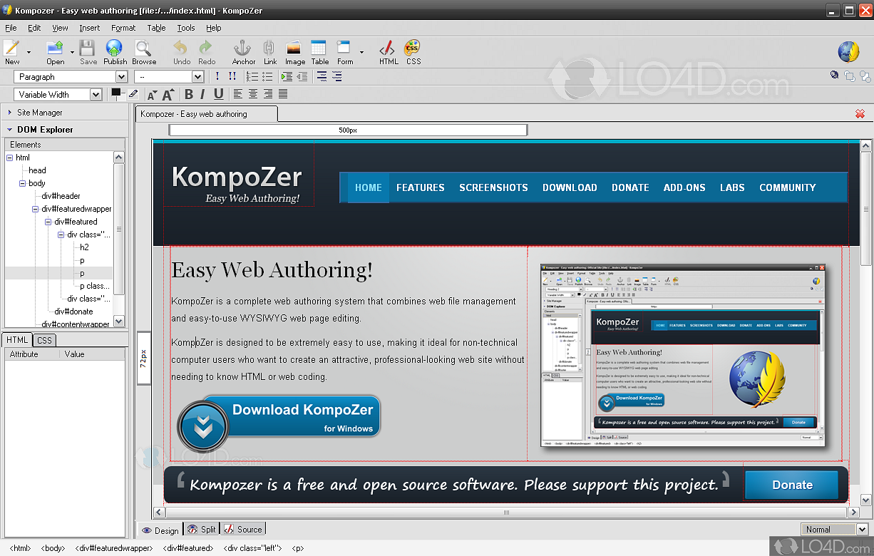 kompozer windows 7 64 bits
