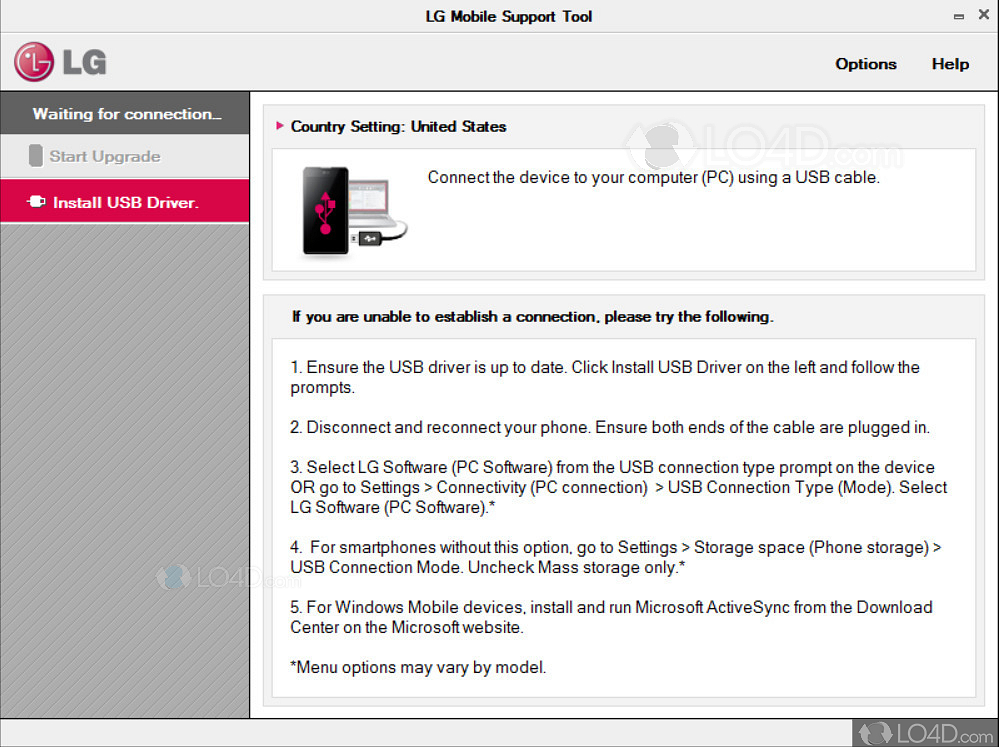 lg mobile support tool descargar firmware