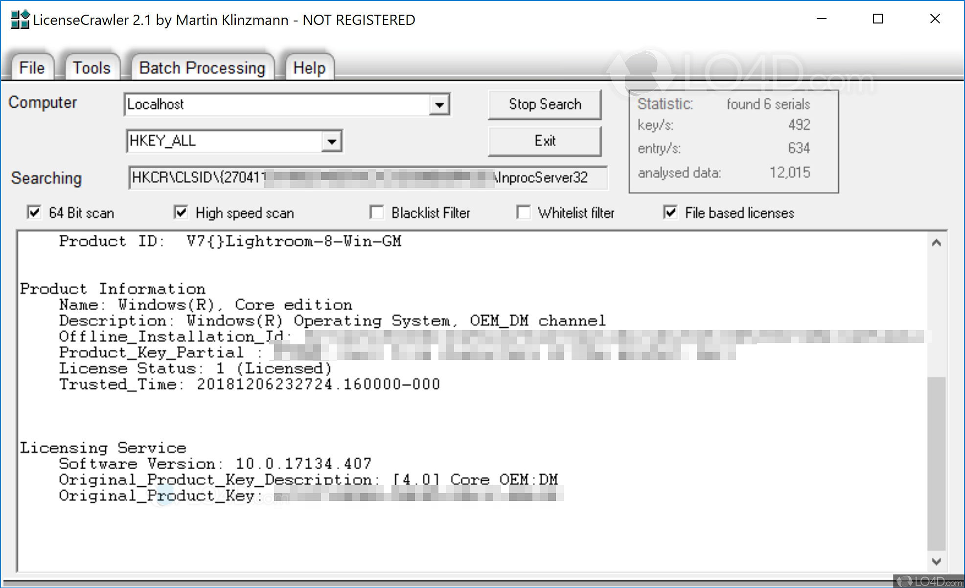 licensecrawler windows 7 product key
