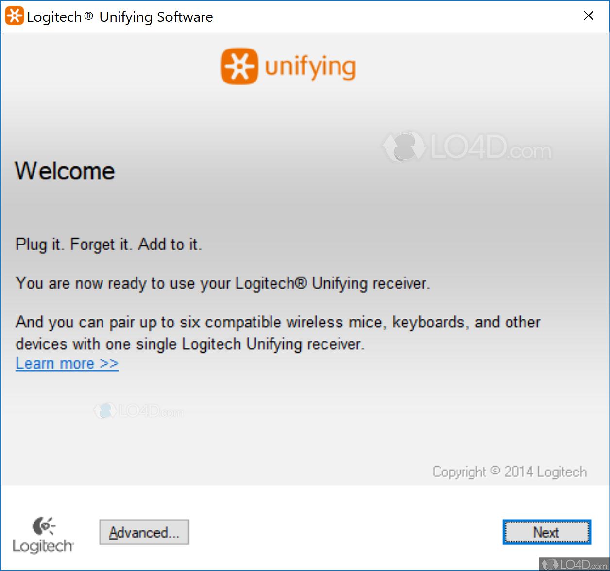 Logitech Unifying Software - Screenshots