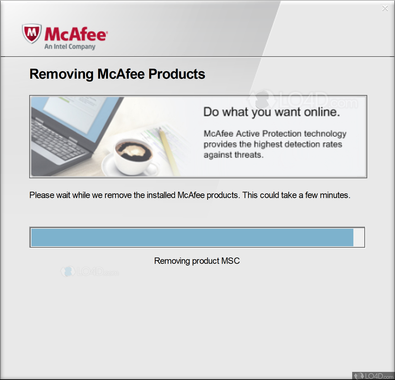 Download mcafee consumer products removal tool.