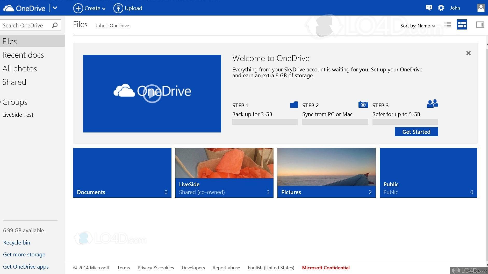 Microsoft OneDrive - Screenshots