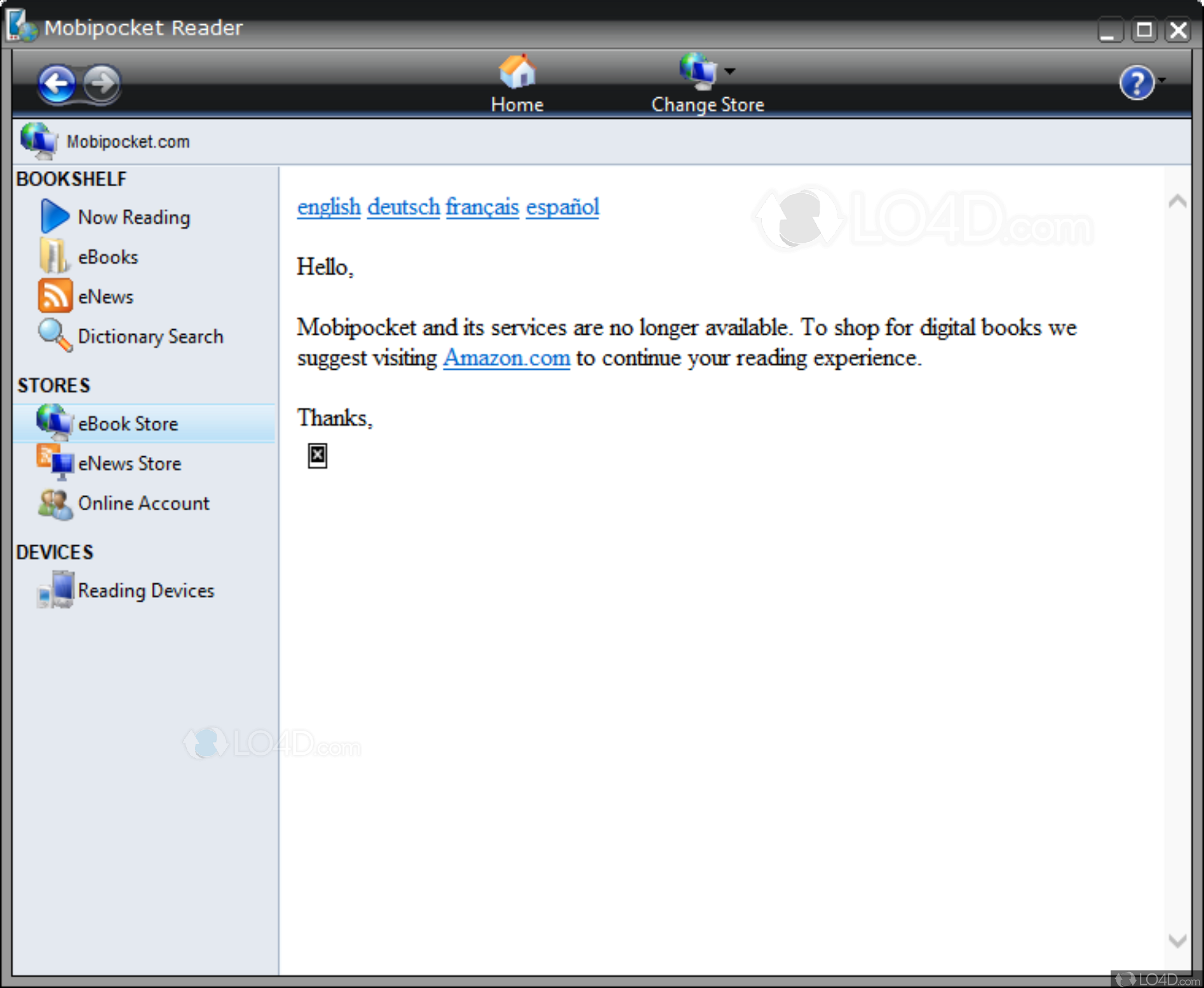 Mobipocket Reader - Screenshots