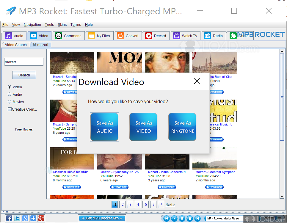 descargar mp3 rocket android