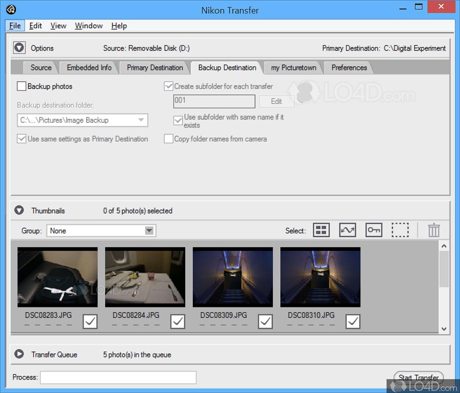 Opening nikon transfer 2 destination folder | viewnx-i help | nikon.