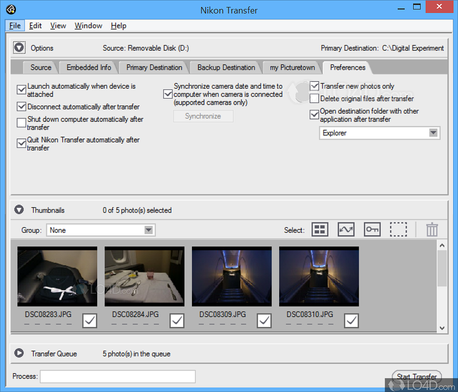 Is nikon transfer not recognizing your camera's files?