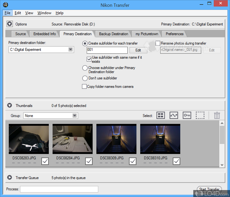 Starting nikon transfer 2 from dialog (windows 10/windows 8. 1.