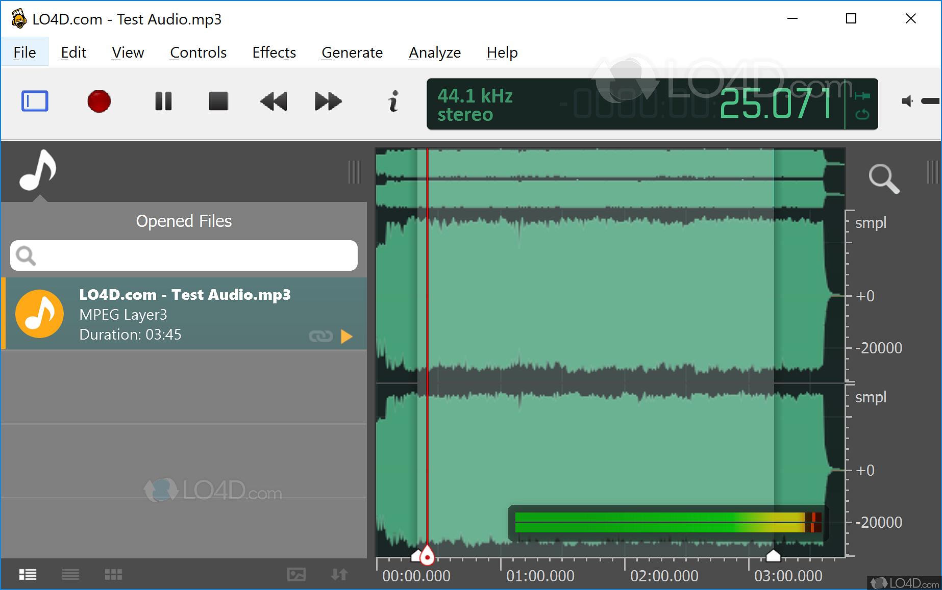 ocenaudio vs audacity - LO4D com