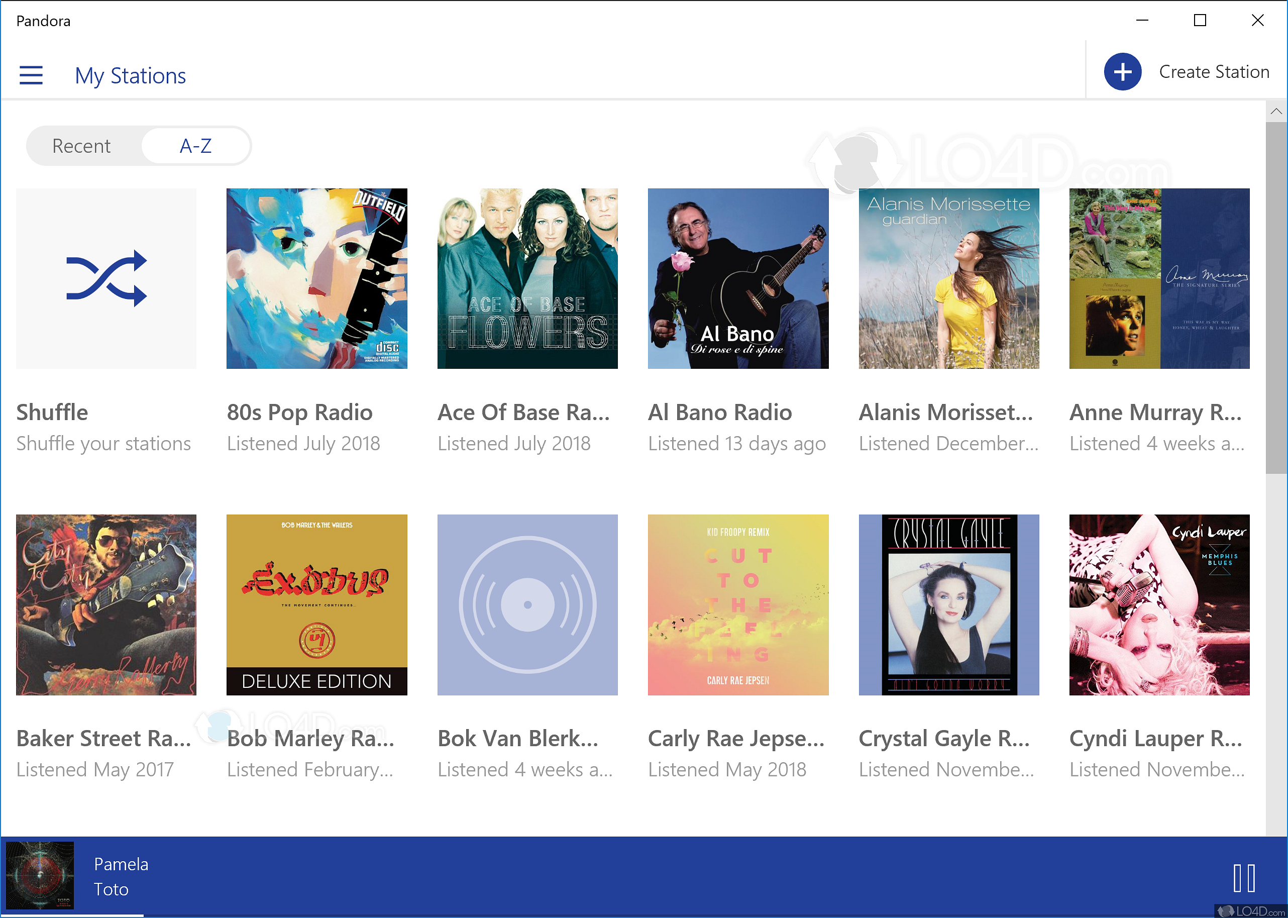 Pandora gadget Windows 8 - LO4D com