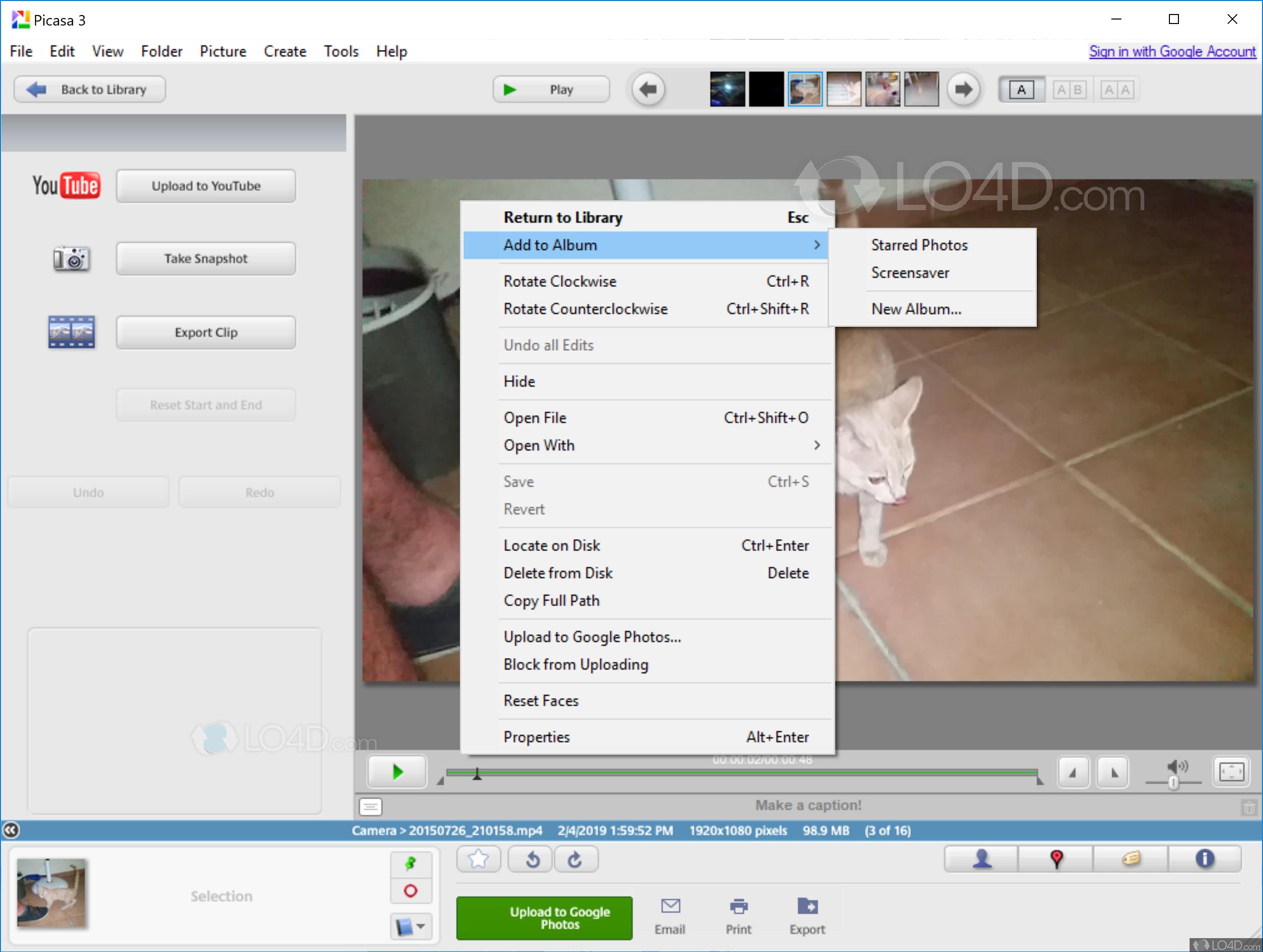 Picasa - Screenshots