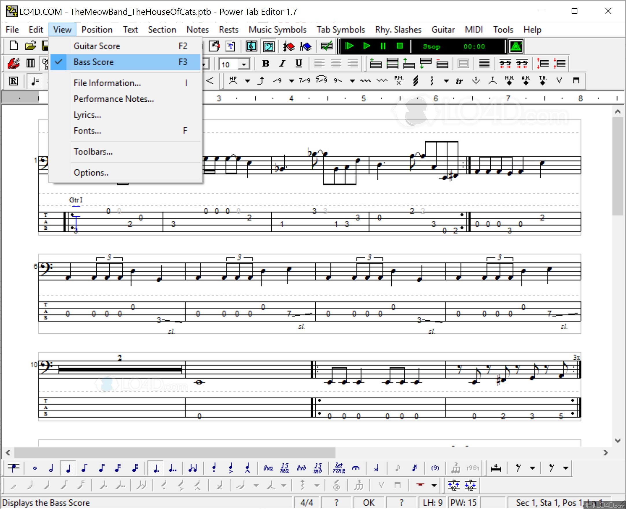 Power Tab Editor - Screenshots