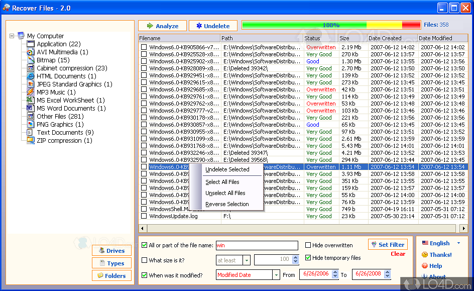 download file recovery